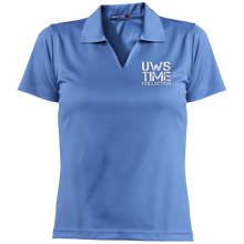 Load image into Gallery viewer, UWS TIME COLLECTION Ladies' Dri-Mesh Short Sleeve Polo