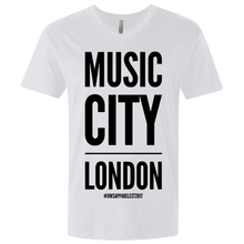 Load image into Gallery viewer, MUSIC CITY LONDON Men's Premium Fitted SS V-Neck