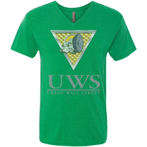 UWS LOGO Crew Next Level Men's Triblend V-Neck T-Shirt