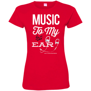 """Music To My Ear..."" Ladies' Fine Jersey T-Shirt"