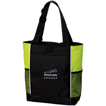 Load image into Gallery viewer, YOUNG PRODUCERS Colorblock Zipper Tote Bag