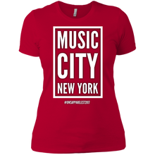 Load image into Gallery viewer, MUSIC CITY NEW YORK Ladies' Boyfriend T-Shirt
