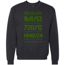 Load image into Gallery viewer, UWS Time Collection (Green print) Heavyweight Crewneck Sweatshirt 9 oz.