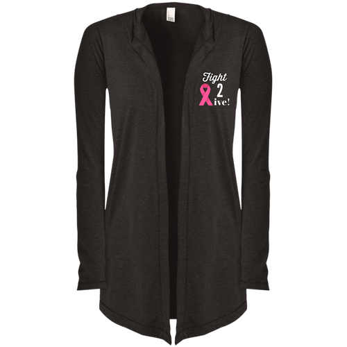 """Fight 2 Live"" Women's Hooded Cardigan"