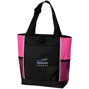 YOUNG PRODUCERS Colorblock Zipper Tote Bag