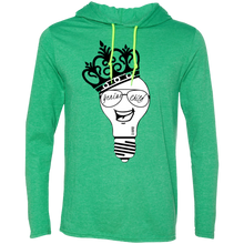 Load image into Gallery viewer, Genius Child (b/w grin)  LS T-Shirt Hoodie