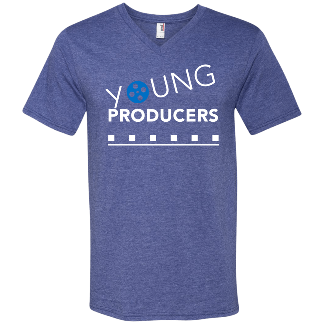 YOUNG PRODUCERS Men's Printed V-Neck T-Shirt