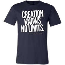 "Load image into Gallery viewer, ""Creation Knows No Limits"" Unisex Jersey Short-Sleeve T-Shirt"