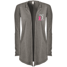 "Load image into Gallery viewer, ""Fight 2 Live"" Women's Hooded Cardigan"