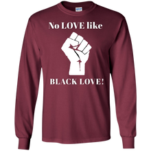 Load image into Gallery viewer, BLACK LOVE LS Ultra Cotton T-Shirt