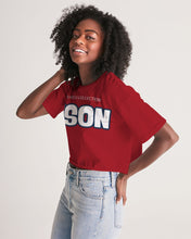 Load image into Gallery viewer, BISON Women's Lounge Cropped Tee
