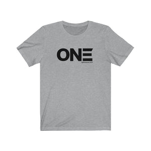 """ONE' Unisex Jersey Short Sleeve Tee"