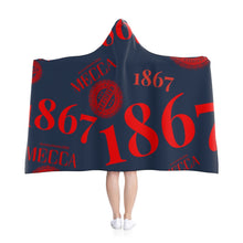 "Load image into Gallery viewer, ""1867 MECCA CERTIFIED"" Hooded Blanket"