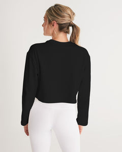 """Blessed"" Women's Cropped Sweatshirt (Black)"