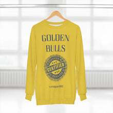 "Load image into Gallery viewer, ""Golden Bulls Certified"" (JSCU) Unisex Sweatshirt"