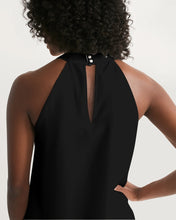 "Load image into Gallery viewer, ""Strength"" Women's Halter Dress (Black)"