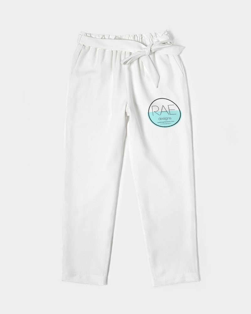 RAE Designs Women's Belted Tapered Pants