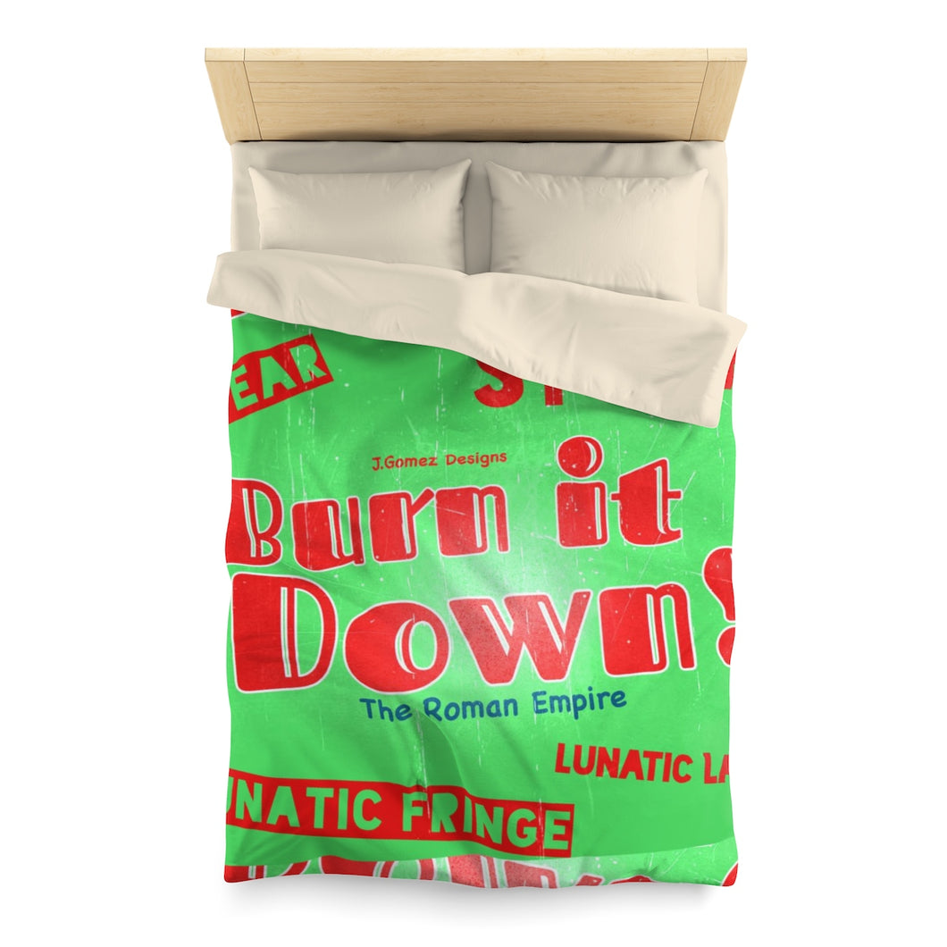 """Burn It Down"" Microfiber Duvet Cover"