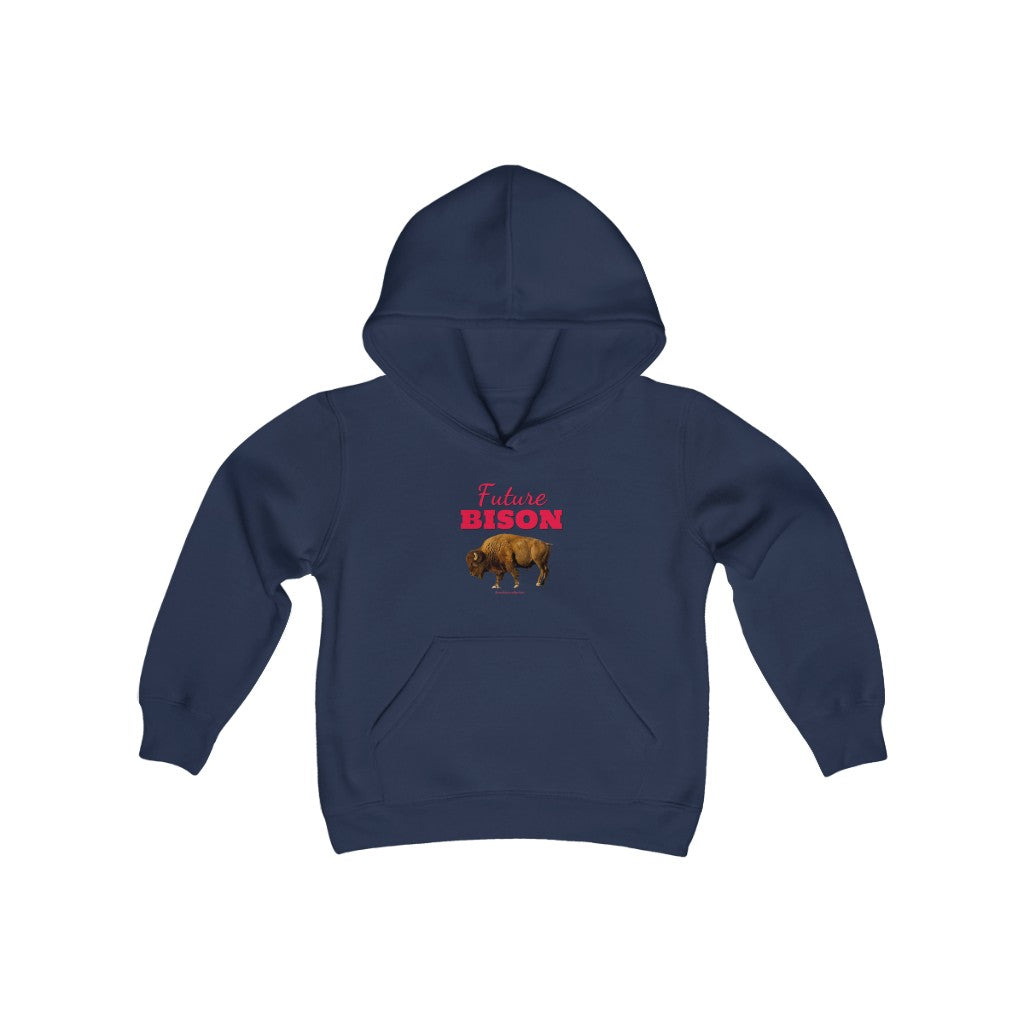 Future Bison Youth Heavy Blend Hooded Sweatshirt
