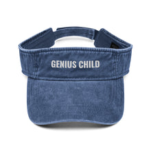 Load image into Gallery viewer, Genius Child Denim visor