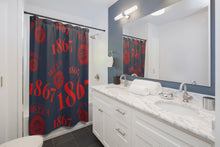 "Load image into Gallery viewer, ""1867 MECCA CERTIFIED"" Shower Curtains"