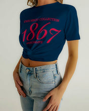 Load image into Gallery viewer, 1867 Women's Twist-Front Cropped Tee