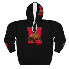 Load image into Gallery viewer, H • BISON AOP Unisex Pullover Hoodie