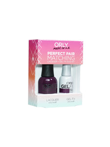 Perfect Pair Lacquer & GELFX - Plum Noir - ORLY Gel + Lacquer Perfect Pairs