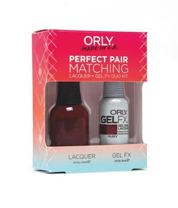 Perfect Pair Lacquer & GELFX - Ruby - ORLY Gel + Lacquer Perfect Pairs