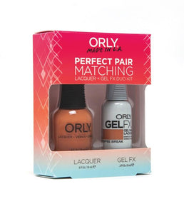 Perfect Pair Lacquer & GELFX - Coffee Break - ORLY Gel + Lacquer Perfect Pairs