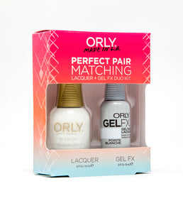 Perfect Pair Lacquer & GELFX - Pointe Blanche - ORLY Gel + Lacquer Perfect Pairs
