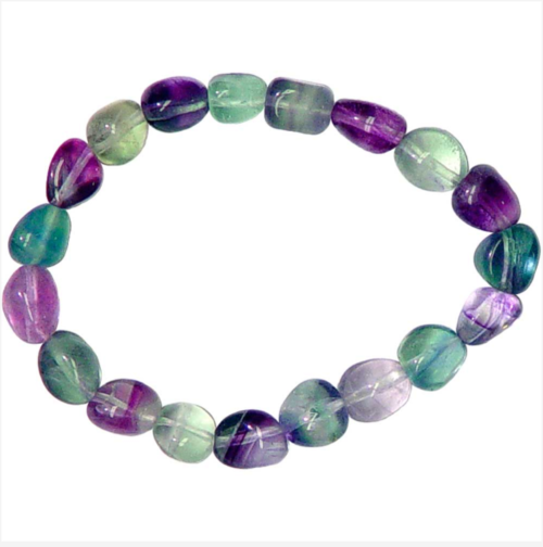 Genuine Tumbled Fluorite Bracelet
