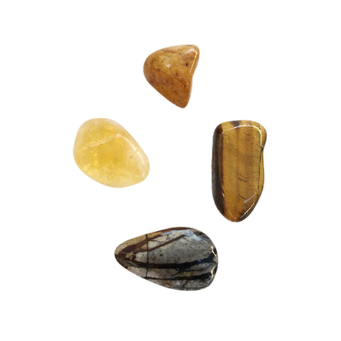 The Solar Plexus * 4 Piece Stone Set * Yellow