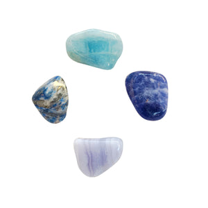 Throat Chakra * 4 Piece Stone Set * Aquamarine,
