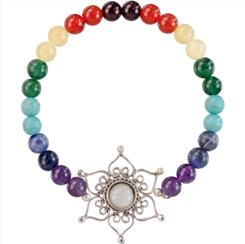 Beautiful 7 Chakras Bracelet & Lotus Flower Charm