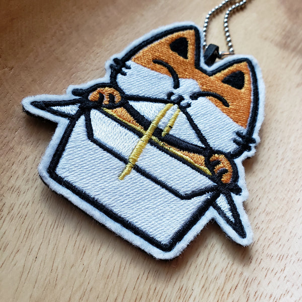 Kitty Meow Mein - Embroidered Keychain or Patch
