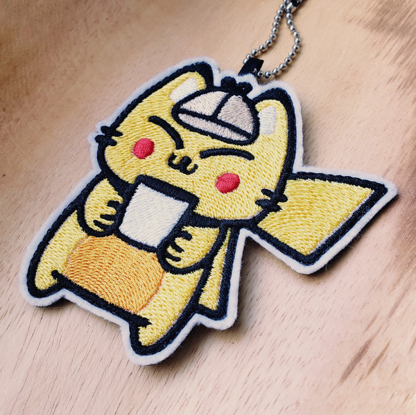 Detective PlattaChu - Embroidered Keychain or Patch
