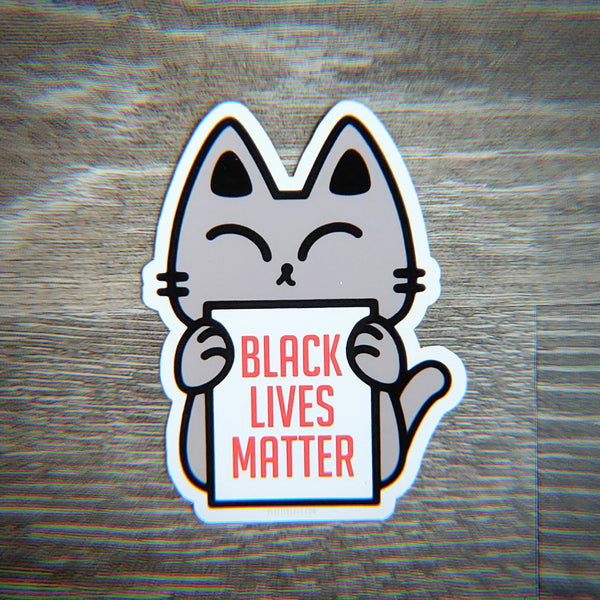 Protest Kitty for BLM - Vinyl Sticker