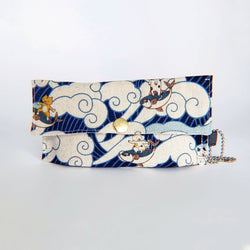 Face Mask Pouch - Surfing Ocean Wave Kitties - PlatterCats Creative