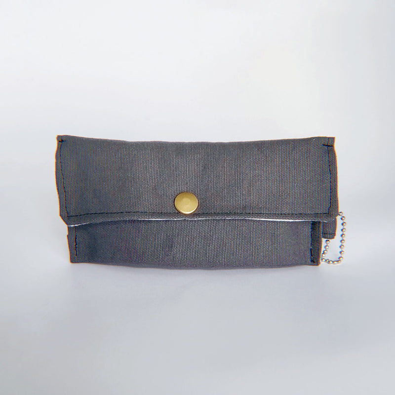 Face Mask Pouch - Solid Dark Gray - PlatterCats Creative
