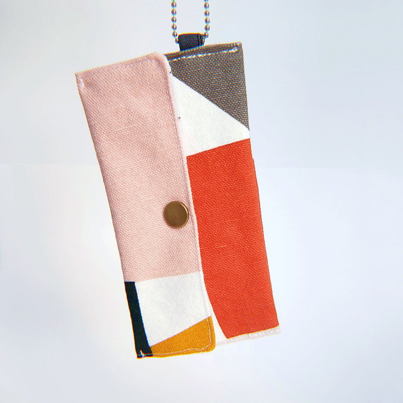 Face Mask Pouch - Geo Color Blocks - PlatterCats Creative
