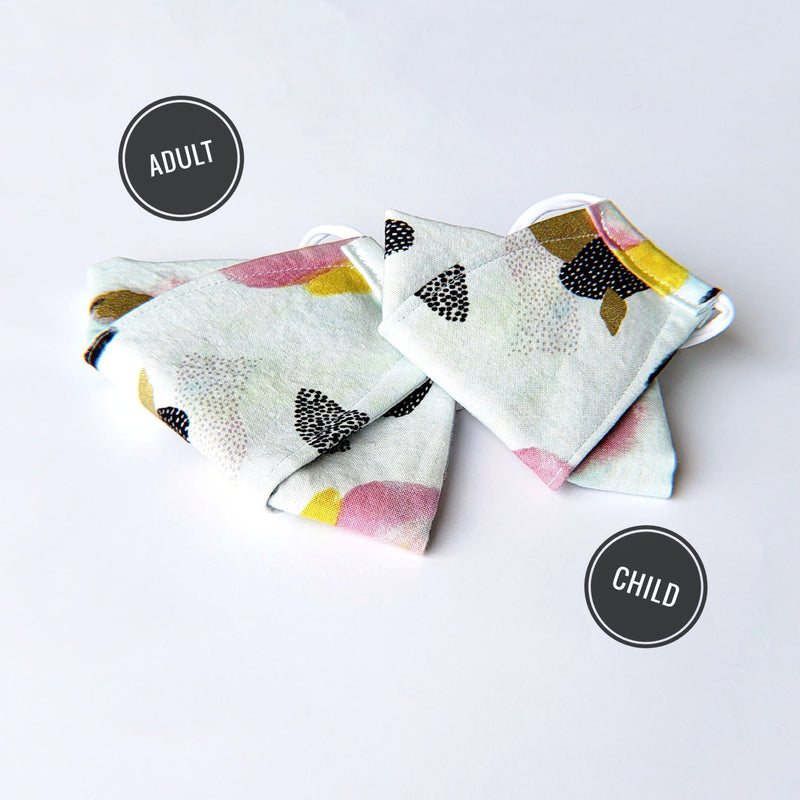LIMITED EDITION - Cute Sushi Neko on Gray - Handmade Origami Face Mask - PlatterCats Creative