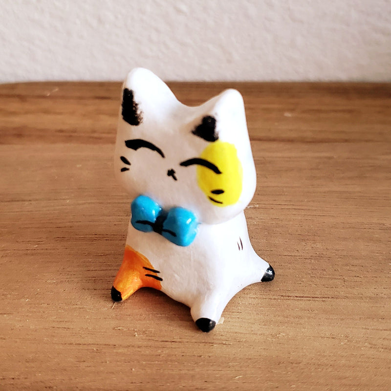 No.2 - Handmade Clay Cat Sculpture - PlatterCats Creative