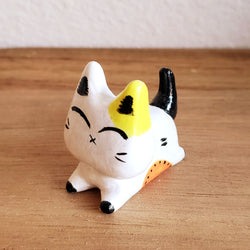 No.1 - Handmade Clay Cat Sculpture - PlatterCats Creative