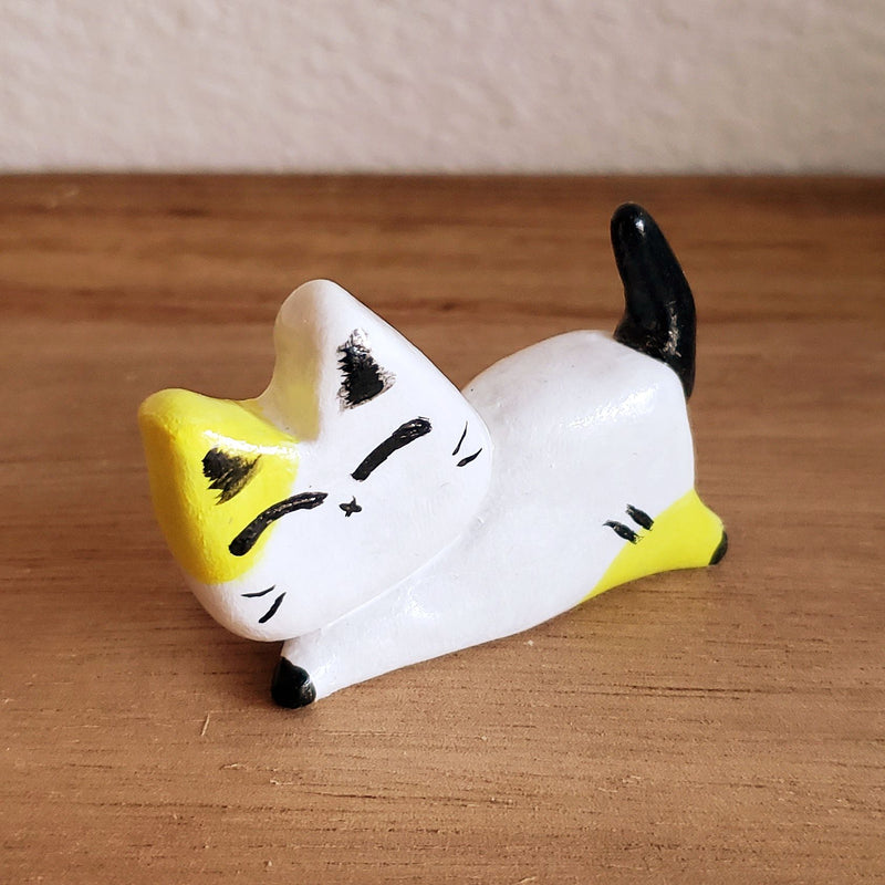 No.3 - Handmade Clay Cat Sculpture - PlatterCats Creative