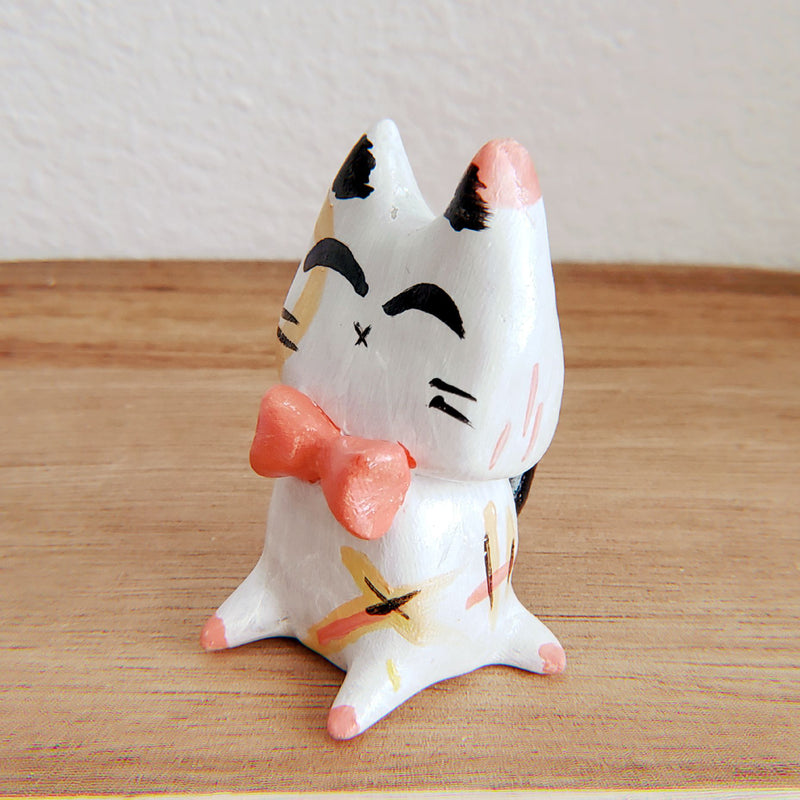 No.4 - Handmade Clay Cat Sculpture - PlatterCats Creative