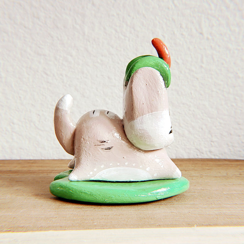 No.13 - Handmade Clay Cat Sculpture - PlatterCats Creative