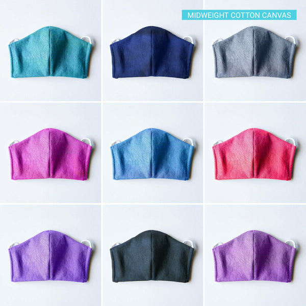 Handmade Fitted Face Mask - Solid Colors (Multiple Options) - PlatterCats Creative