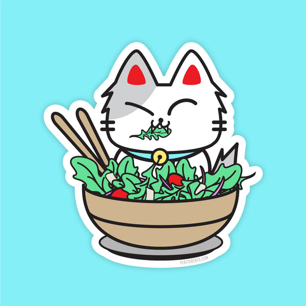 Arugula Kitty - Vinyl Sticker - PlatterCats Creative