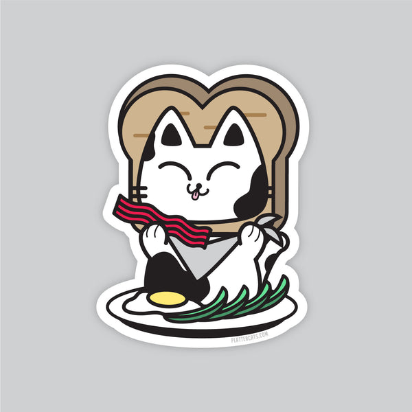 Breakfast Kitty - Vinyl Sticker